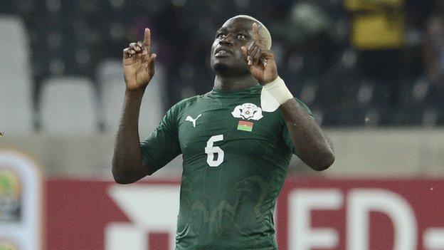 Burkina Faso midfielder Djakaridja Kone