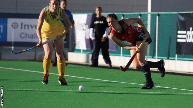 England play Australia hockey