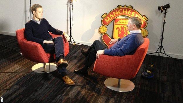 Dan Walker and Sir Alex Ferguson