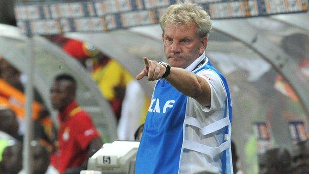 Burkina Faso's Belgian coach Paul Put