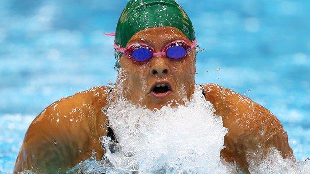 South African swimmer Natalie Du Toit