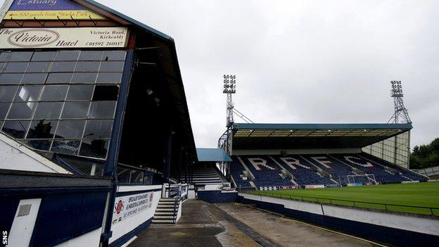 The pitch at Stark's Park is unplayable