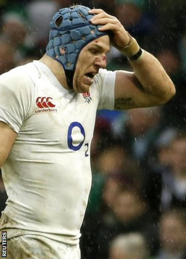 James Haskell looks gutted as he walks off having been sin-binned for kicking the ball away at a ruck