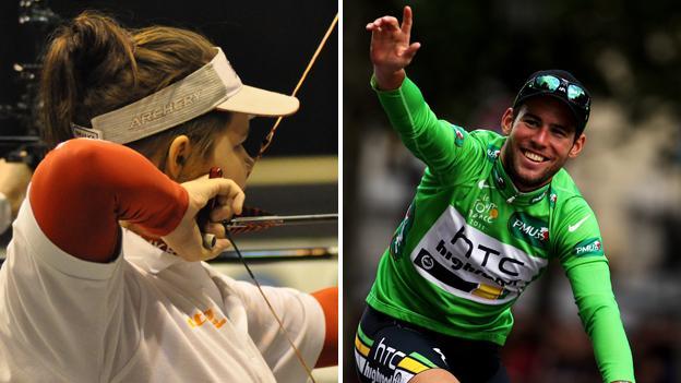 2011 winners Aalin George and Mark Cavendish