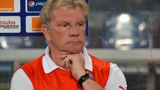 Burkina Faso coach Paul Put