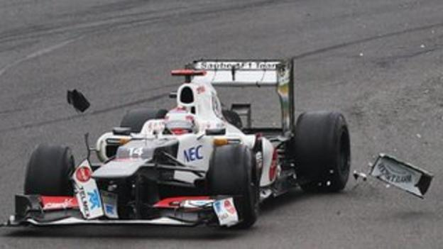 Kamui Kobayashi at the Brazilian GP 2012