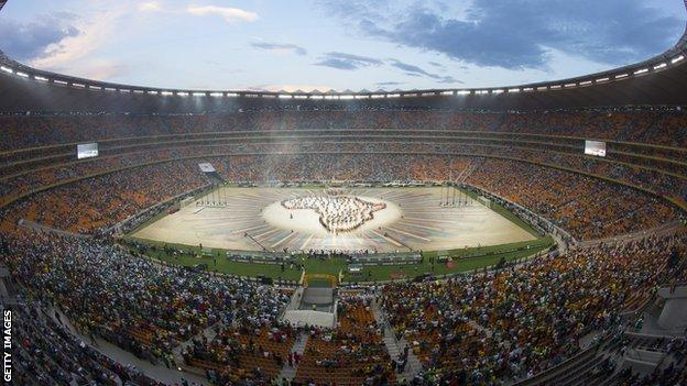 Johannesburg's Soccer City hosts the closing ceremony for the Africa Cup of Nations