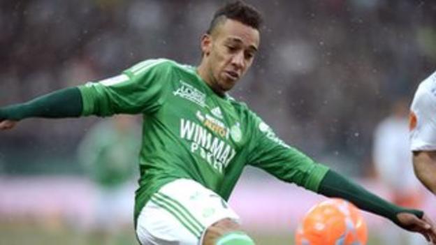 Saint-Etienne striker Pierre-Emerick Aubameyang