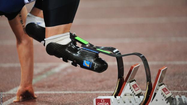 Oscar Pistorius's prosthetic limbs.