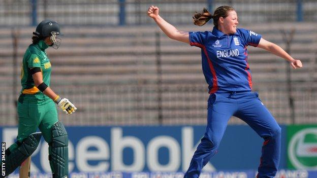 England bowler Anya Shrubsole