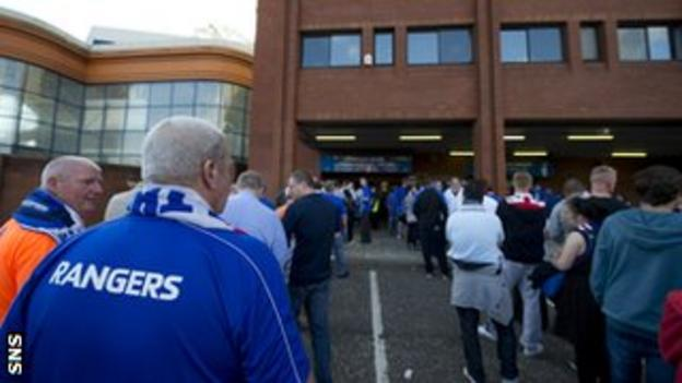 Rangers supporters are now following their club in Division Three