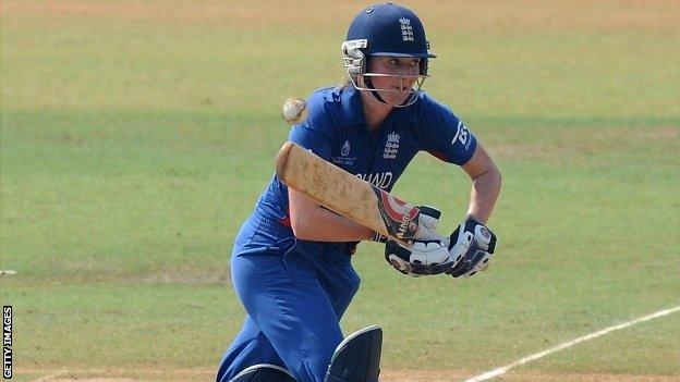 Charlotte Edwards in action against New Zealand