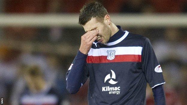Dundee defender Lewis Toshney