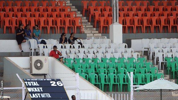 Crowds have been sparse at the women's World Cup