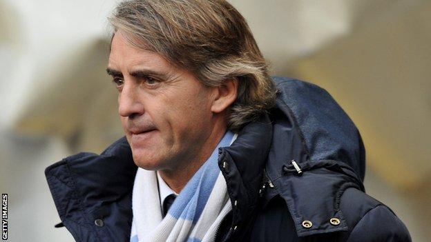 Manchester City manager Roberto Mancini