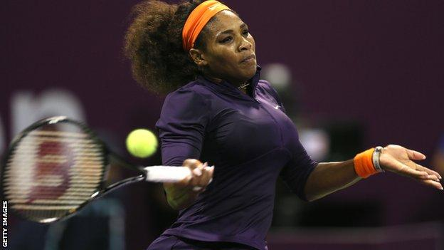 World number one Serena Williams