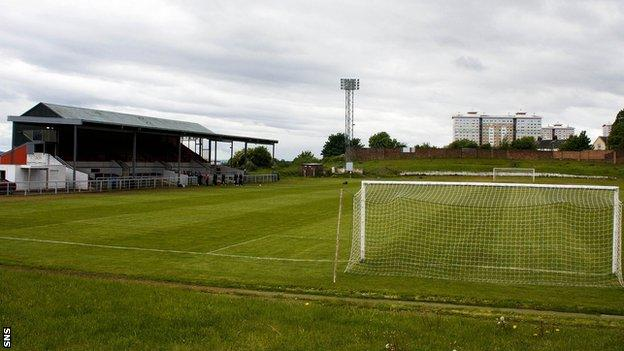 The match at Cliftonhill has been postponed