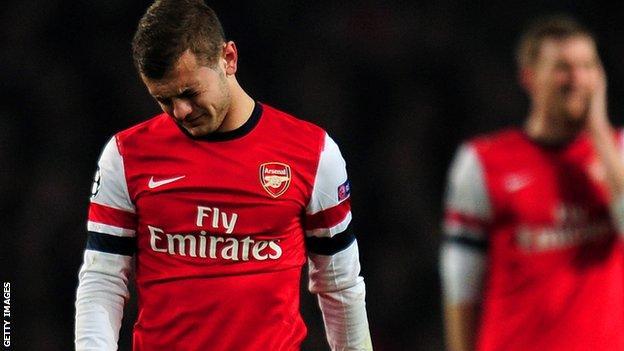 Arsenal midfielder Jack Wilshere