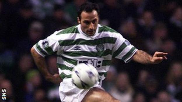 Ramon Vega playing for Celtic