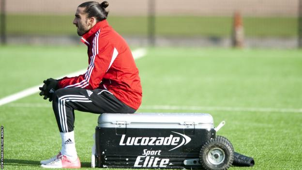 Chico Flores is ruled out of Swansea's big day by an ankle injury