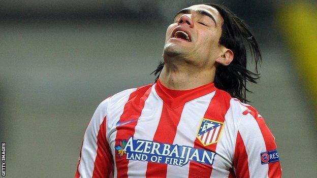 Atletico Madrid's Falcao