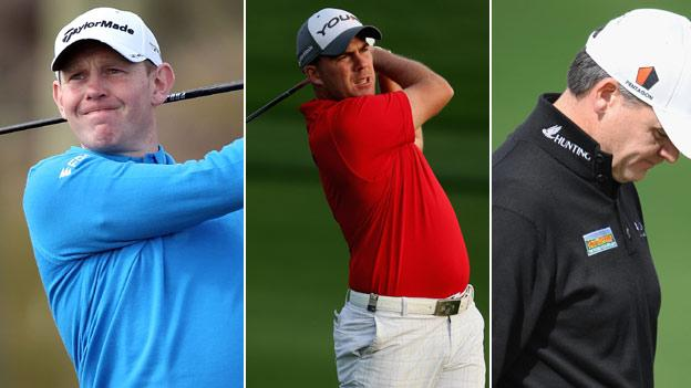 From left: Stephen Gallacher, Richie Ramsay and Paul Lawrie