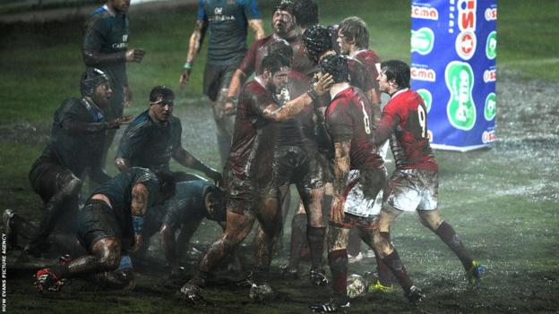 The Wales Under-20 pack are delighted to have forced a penalty try against their Azzurri opponents in a 25-10
