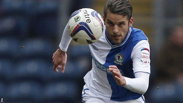 Blackburn's on loan midfielder David Bentley