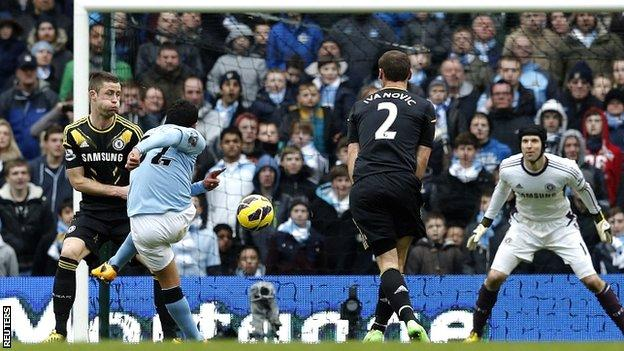Carlos Tevez fires City's second goal