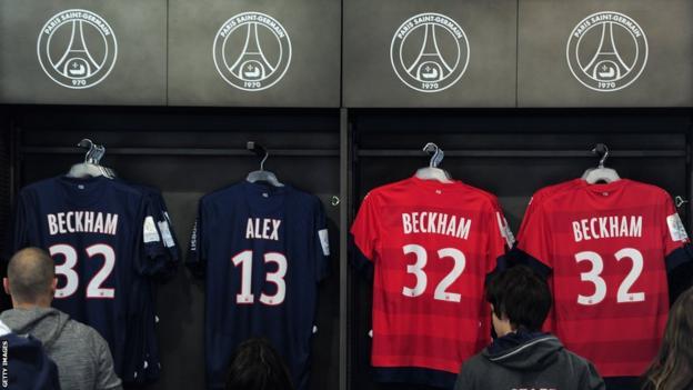 The 'David Beckham merchandising machine' in evidence at Paris St-Germain's club shop