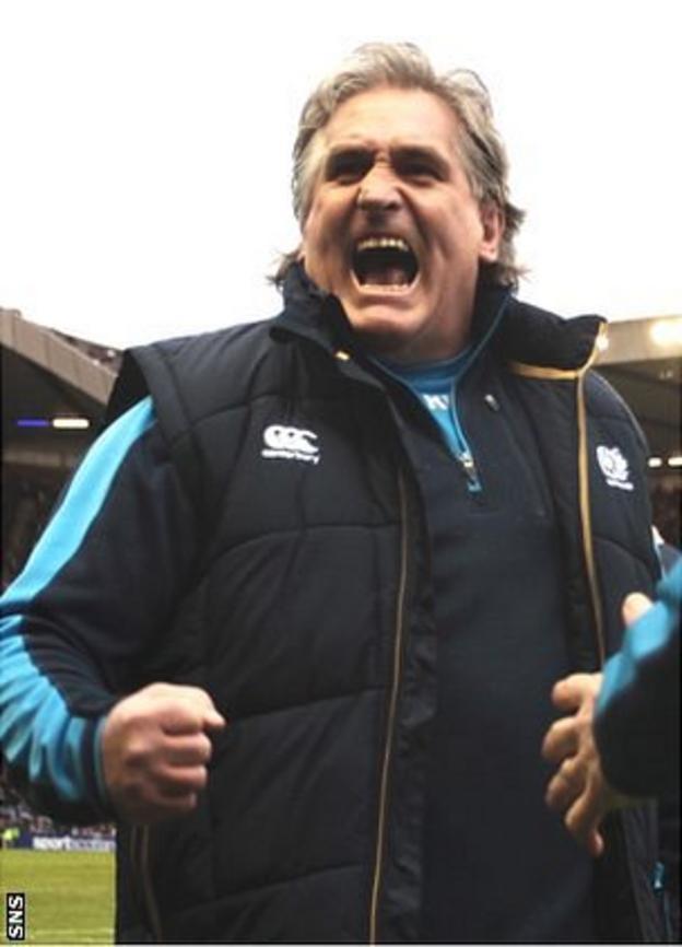 Jubilant Scotland coach Scott Johnson