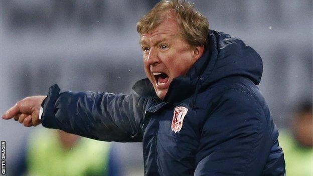 FC Twente manager Steve McClaren