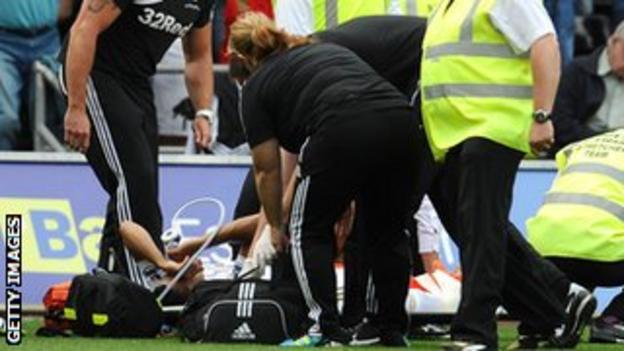 Defender Taylor was injured in a collision with Sunderland's Craig Gardner