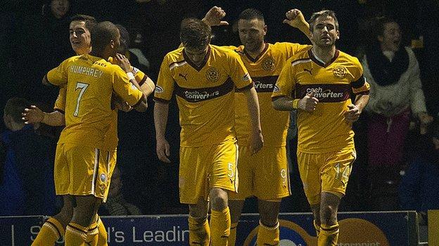 Motherwell were 2-1 winners against Celtic at Fir Park