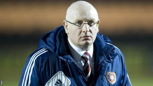 Former Hearts manager John McGlynn