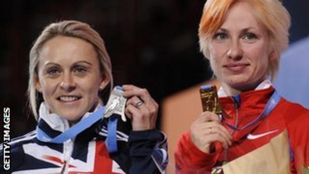 Jenny Meadows (left) later had her silver upgraded to gold