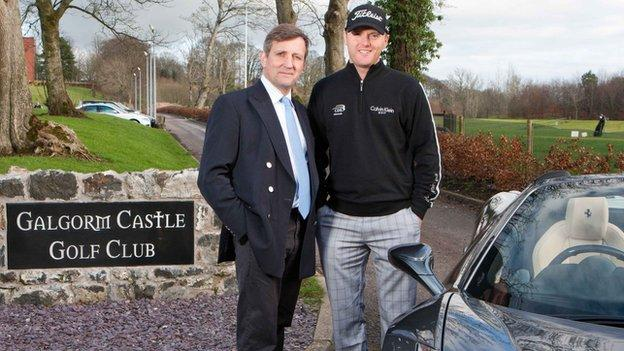 Michael Hoey with Galgorm Castle owner Christopher Brooke