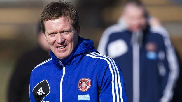 Hearts interim manager Gary Locke