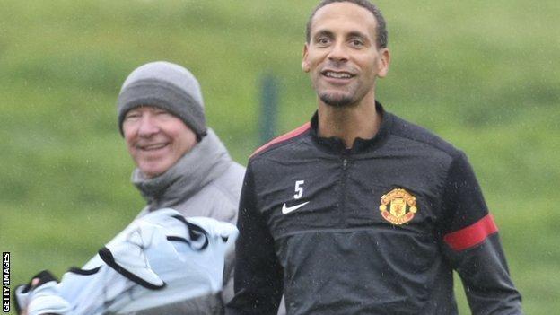 Sir Alex Ferguson and Rio Ferdinand