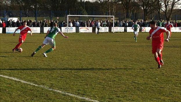 4th Round FA Vase: Walsall Wood FC v Guernsey FC