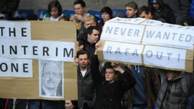Chelsea fans' banners