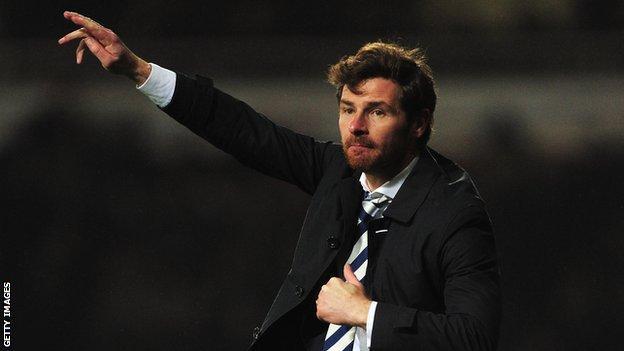 Tottenham manager Andre Villas-Boas