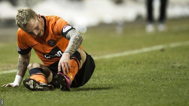 Dundee Utd striker Johnny Russell