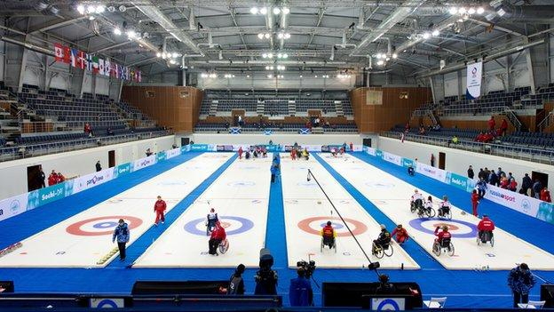 The Ice Cube Centre in Sochi will host the Paralympic Wheelchair Curling events