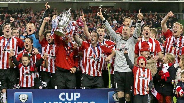 Derry won the FAI Cup in 2012
