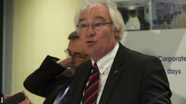 Former Dunfermline manager Jim Leishman