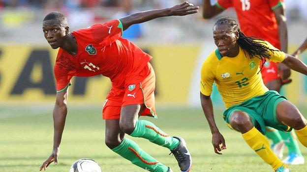 Malawi Flames in action against South Africa in 2012