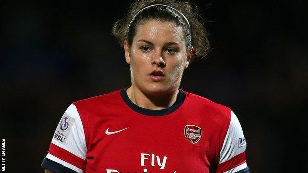 Arsenal and Scotland's Jennifer Beattie
