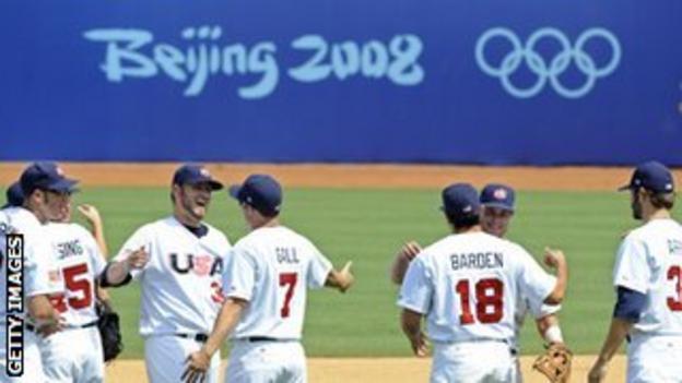 The American baseball team won bronze at the Beijing Olympics