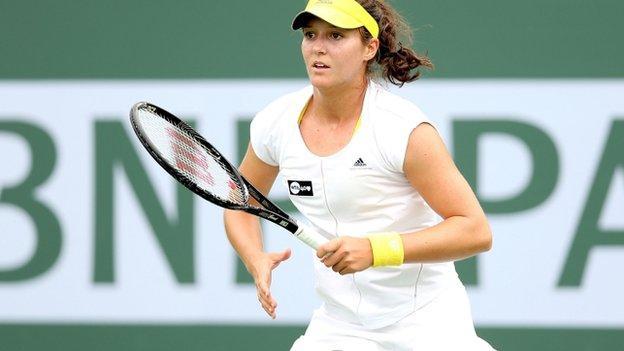 British tennis player Laura Robson